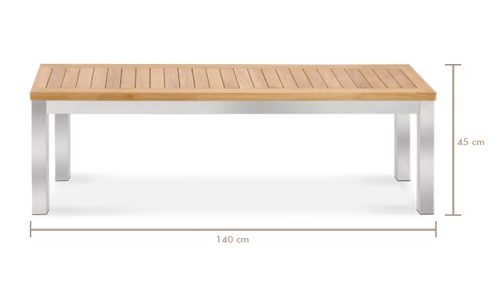 Teak-steekl-siro-backless-bench-Alzette-4