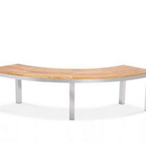 Teak-steel-round-quarter-bench-signature