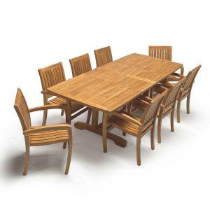 Teak outdoor furniture - dining set